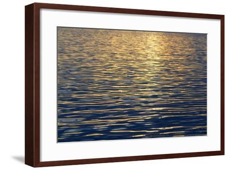 Canada, Sidney Island. Sunset Reflected in Gentle Waves at Sidney Spit-Kevin Oke-Framed Art Print