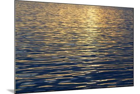 Canada, Sidney Island. Sunset Reflected in Gentle Waves at Sidney Spit-Kevin Oke-Mounted Photographic Print