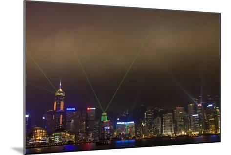 China, Hong Kong, Night Laser Show on Hong Kong Waterfront-Terry Eggers-Mounted Photographic Print