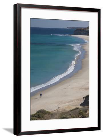 Australia, Fleurieu Peninsula, Port Willunga, Elevated Beach View-Walter Bibikow-Framed Art Print