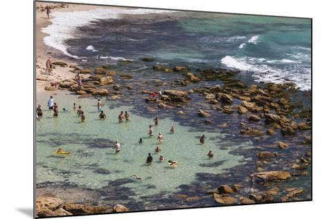 Australia, Sydney, Bronte, Bronte Beach, Elevated View-Walter Bibikow-Mounted Photographic Print