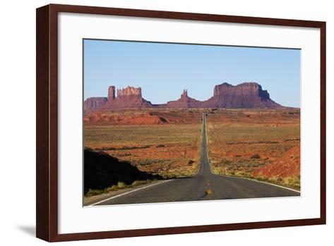 Utah, Navajo Nation, U.S. Route 163 Heading Towards Monument Valley-David Wall-Framed Art Print