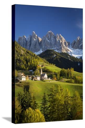 Val Di Funes, Santa Maddalena and Geisler Spitzen, Dolomites, Italy-Brian Jannsen-Stretched Canvas Print