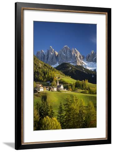 Val Di Funes, Santa Maddalena and Geisler Spitzen, Dolomites, Italy-Brian Jannsen-Framed Art Print