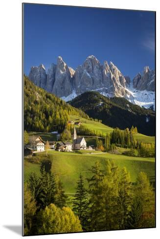 Val Di Funes, Santa Maddalena and Geisler Spitzen, Dolomites, Italy-Brian Jannsen-Mounted Photographic Print