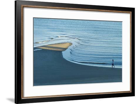 Massachusetts, Gloucester, Good Harbor Beach, Elevated View-Walter Bibikow-Framed Art Print