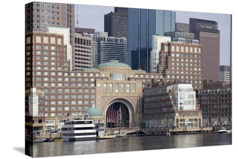 Massachusetts, Boston. Downtown City Skyline and Waterfront-Cindy Miller Hopkins-Stretched Canvas Print