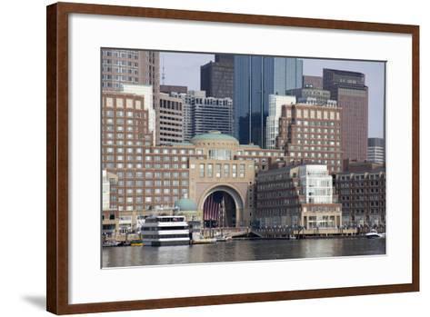 Massachusetts, Boston. Downtown City Skyline and Waterfront-Cindy Miller Hopkins-Framed Art Print