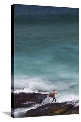Australia, Sydney, Tamarama, Tamarama Bay-Walter Bibikow-Stretched Canvas Print