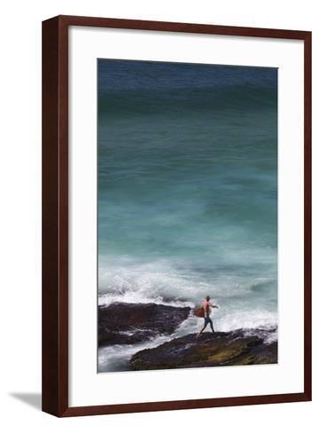 Australia, Sydney, Tamarama, Tamarama Bay-Walter Bibikow-Framed Art Print