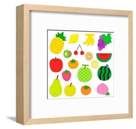 Fruits- sobakasu-Framed Art Print