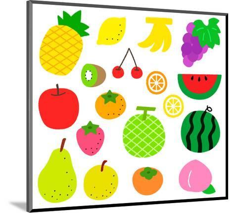 Fruits- sobakasu-Mounted Art Print