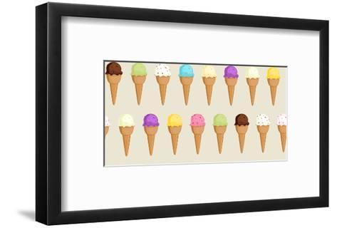 Ice Cream Collection Pattern- tikiri-Framed Art Print