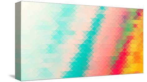 Triangle Background- darknicesnow-Stretched Canvas Print