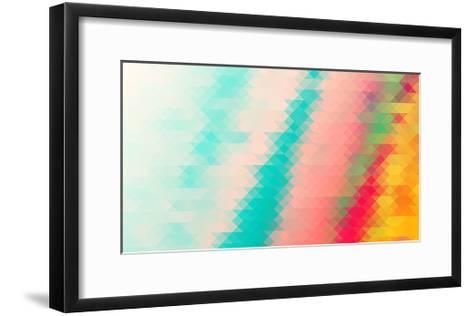 Triangle Background- darknicesnow-Framed Art Print
