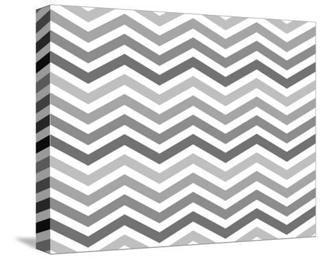 Gray Zigzag Pattern Background-Karen Roach-Stretched Canvas Print