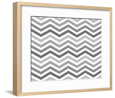 Gray Zigzag Pattern Background-Karen Roach-Framed Art Print