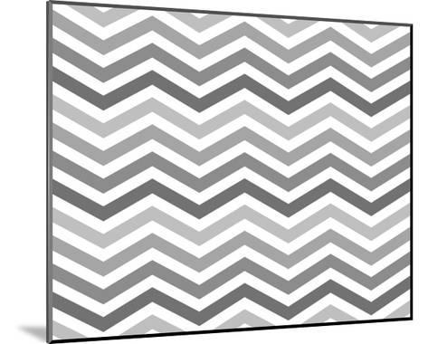 Gray Zigzag Pattern Background-Karen Roach-Mounted Art Print