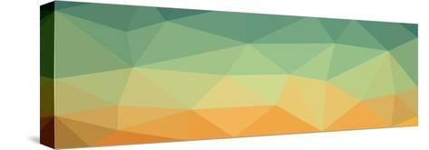 Low Polygon Background Polygon a Complex Color Sky in the Desert- goodwin_x-Stretched Canvas Print