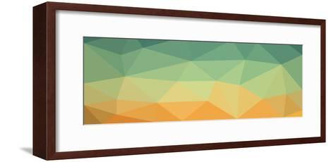 Low Polygon Background Polygon a Complex Color Sky in the Desert- goodwin_x-Framed Art Print