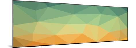 Low Polygon Background Polygon a Complex Color Sky in the Desert- goodwin_x-Mounted Art Print