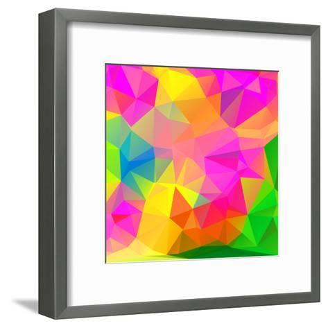Abstract Mosaic Pattern- TAlex-Framed Art Print