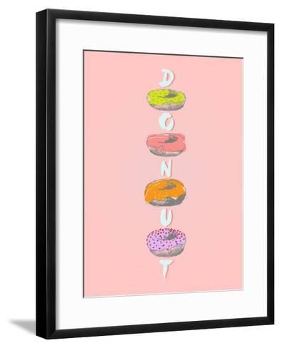 Donuts in Various Glaze Poster-ONiONAstudio-Framed Art Print