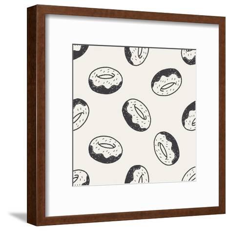 Doodle Donuts-hchjjl-Framed Art Print