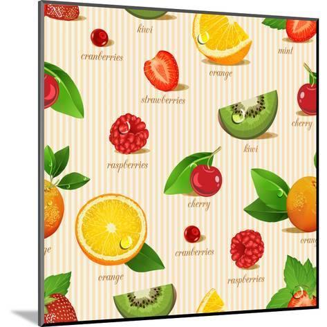 Orange, Kiwi, Cherry, Strawberries, Cranberries, Raspberries-Tatsiana Tsyhanova-Mounted Art Print