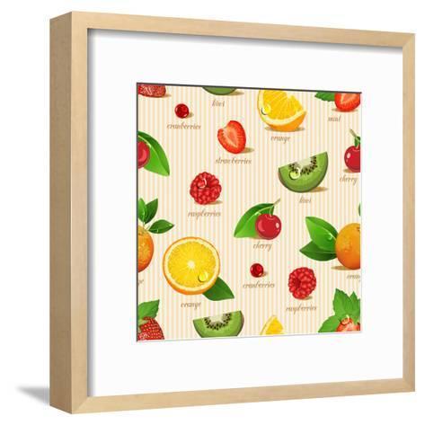 Orange, Kiwi, Cherry, Strawberries, Cranberries, Raspberries-Tatsiana Tsyhanova-Framed Art Print
