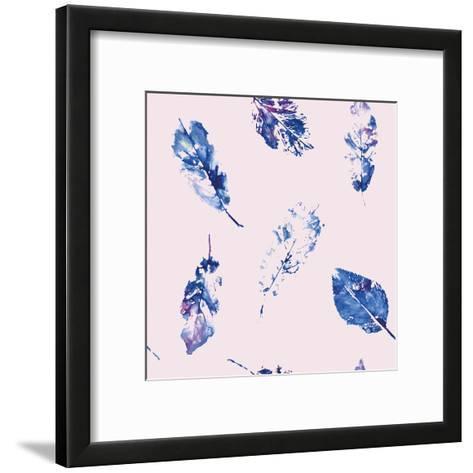 Fingerprint Pattern from Leaves Painted in Watercolor-molokot-Framed Art Print