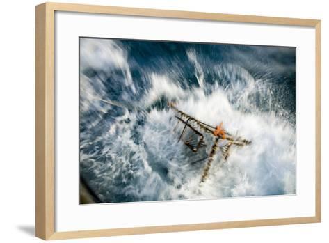 A Baited Pot Crashes into the Water from Aboard the F - V Centurion in Kachemak Bay, Alaska-Design Pics Inc-Framed Art Print