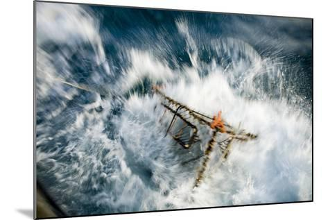 A Baited Pot Crashes into the Water from Aboard the F - V Centurion in Kachemak Bay, Alaska-Design Pics Inc-Mounted Photographic Print
