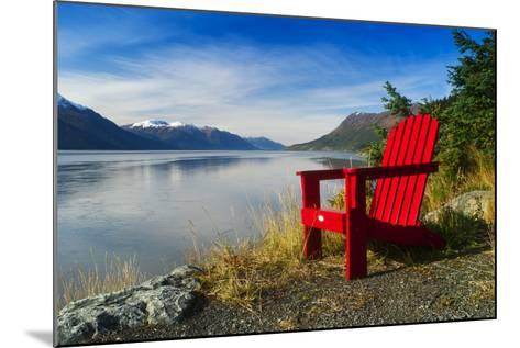 Red Adirondack Chair, Turnagain Arm, Southcentral Alaska-Design Pics Inc-Mounted Photographic Print