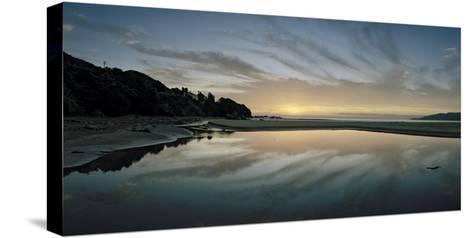 A Sunrise at Ohki Beach That Resembles a Rorschach Test-Macduff Everton-Stretched Canvas Print