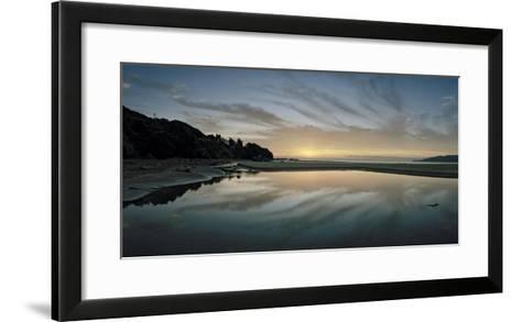 A Sunrise at Ohki Beach That Resembles a Rorschach Test-Macduff Everton-Framed Art Print