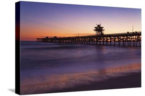 Municipal Pier at Sunset; San Clemente, California, USA-Design Pics Inc-Stretched Canvas Print