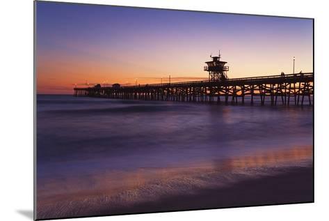 Municipal Pier at Sunset; San Clemente, California, USA-Design Pics Inc-Mounted Photographic Print
