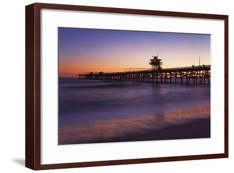 Municipal Pier at Sunset; San Clemente, California, USA-Design Pics Inc-Framed Art Print