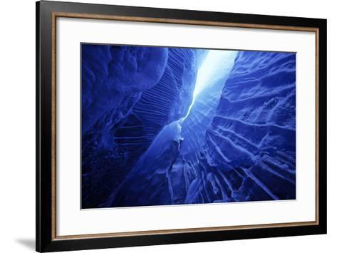 Ice Cave Spencer Glacier Kenai Peninsula Winter Alaska-Design Pics Inc-Framed Art Print