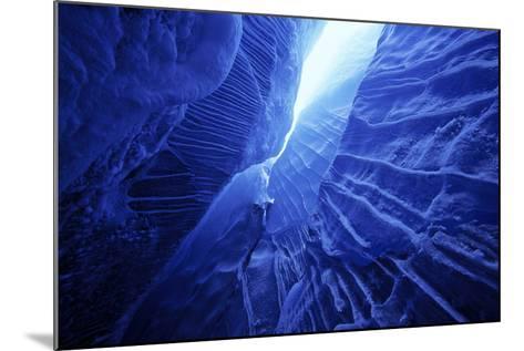 Ice Cave Spencer Glacier Kenai Peninsula Winter Alaska-Design Pics Inc-Mounted Photographic Print