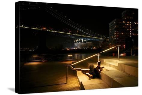 A Classic Ballerina Dances in Brooklyn Bridge Park-Kike Calvo-Stretched Canvas Print