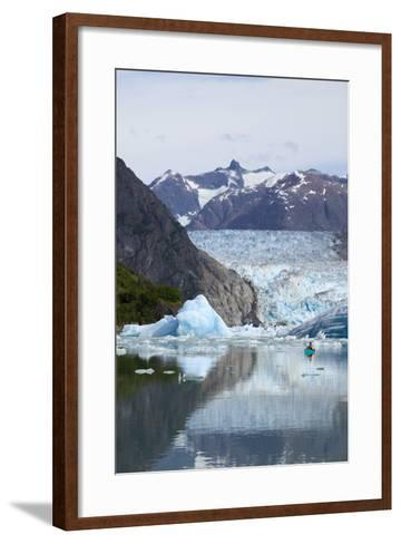 Sea Kayaker Near S.Sawyer Glacier Tracy Arm Se Ak Summer Fords-Terror Wilderness Area-Design Pics Inc-Framed Art Print