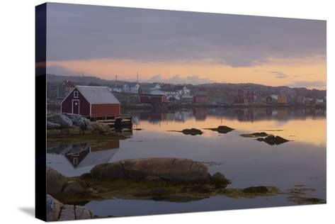 Fishing Village Along the Water's Edge at Sunset; Fogo Island, Newfoundland, Canada-Design Pics Inc-Stretched Canvas Print