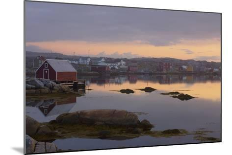 Fishing Village Along the Water's Edge at Sunset; Fogo Island, Newfoundland, Canada-Design Pics Inc-Mounted Photographic Print