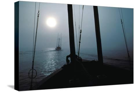 Salmon Troller Following Another, South End of Wrangell Narrows, Southeast, Alaska-Design Pics Inc-Stretched Canvas Print