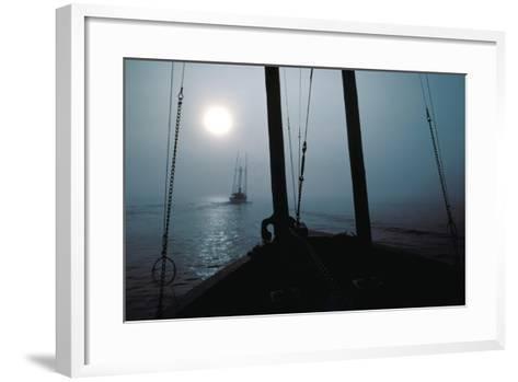 Salmon Troller Following Another, South End of Wrangell Narrows, Southeast, Alaska-Design Pics Inc-Framed Art Print