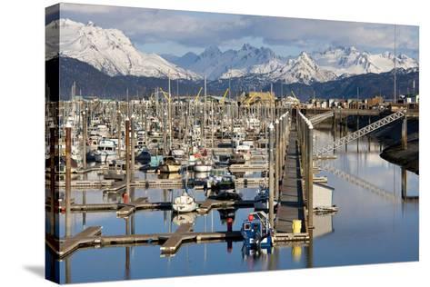 Homer Boat Harbor in Spring, Kenai Peninsula, Alaska-Design Pics Inc-Stretched Canvas Print