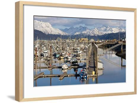 Homer Boat Harbor in Spring, Kenai Peninsula, Alaska-Design Pics Inc-Framed Art Print