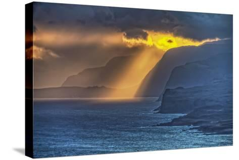 Sunrise Along Highest Sea Cliffs in the World on the North Shore of Molokai Island-Richard Cooke-Stretched Canvas Print